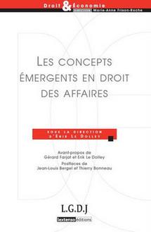 """Participation à l'ouvrage """"Les concepts émergents en droit des affaires"""" (éd. LGDJ) ;  pour nous : le système."""