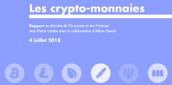 Les actifs financiers existent, croit M. Jean-Pierre LANDAU (le Monsieur Bitcoin du Gouvernement, Rapport au ministre de l'économie).