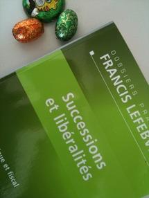 """Successions et libéralités, Editions F. LEFEBVRE (EFL), 3e éd., 2011 : un ouvrage qui souligne la collection """"Dossiers Pratiques""""."""