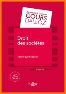 Droit des sociétés, par Véronique Magnier (Cours, Dalloz)
