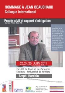 Obligations, procès et droit savant, Mélanges en hommage à Jean Beauchard, coll. Faculté de droit et des sciences sociales de Poitiers, LGDJ, 2013