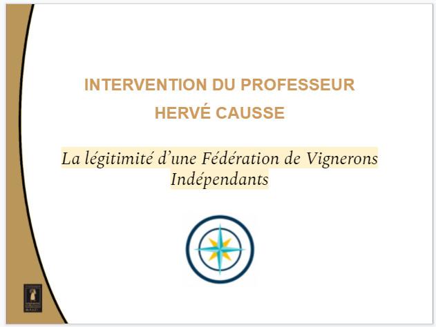 Les vignerons indépendants de Champagne (papier après intervention orale).