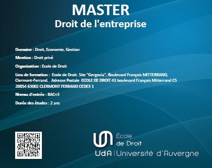 Le Master 2 Droit des Affaires et de la Banque se porte bien (Master Droit de l'entreprise)