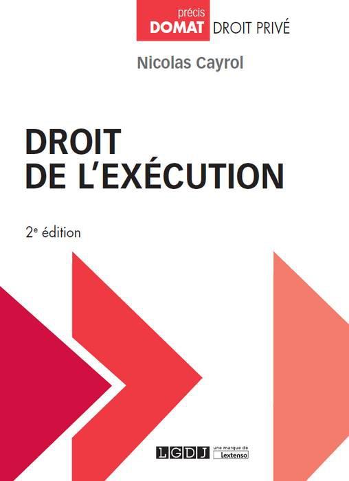 """Le très remarquable ouvrage de Nicolas CAYROL dépassant les """"voies d'exécution"""" pour un Droit..."""