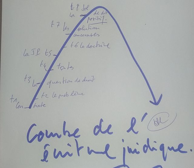 La courbe de l'écriture juridique - un inédit pour une méthode juridique efficace. De la 1re année de droit au doctorat.