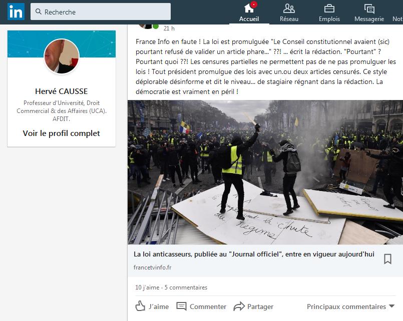 """Loi dite anticasseur publiée... """"pourtant"""" écrit France Info. Pourtant quoi ?! #directdroit"""