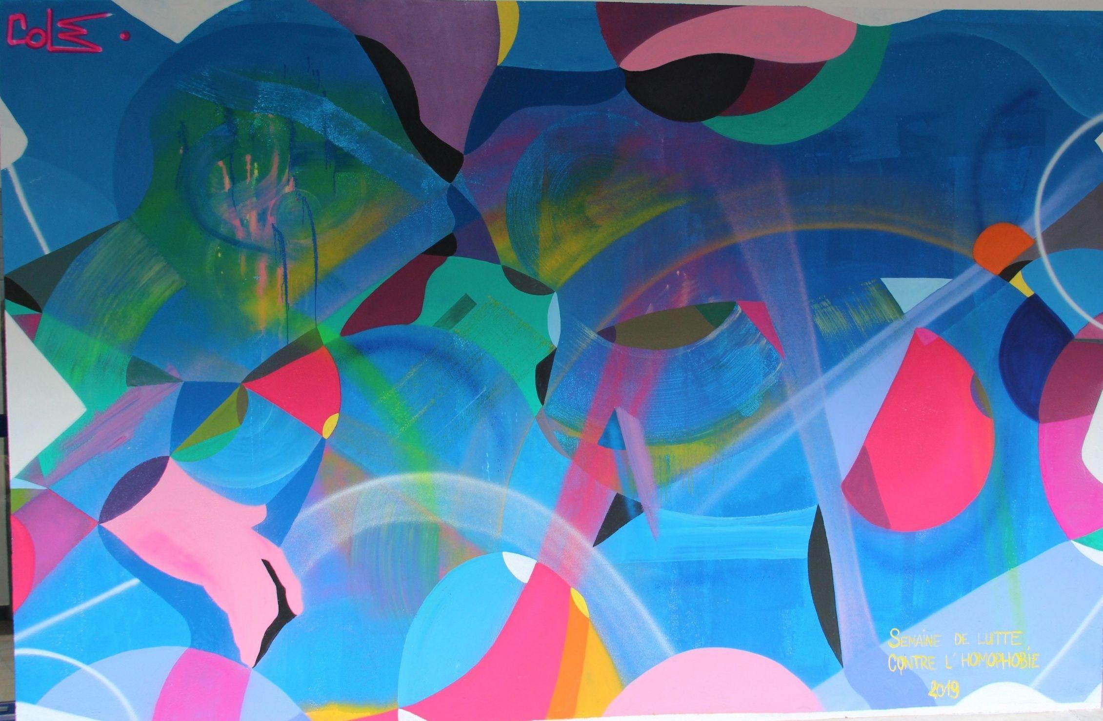 Colz, Peinture à l'Université Montpellier