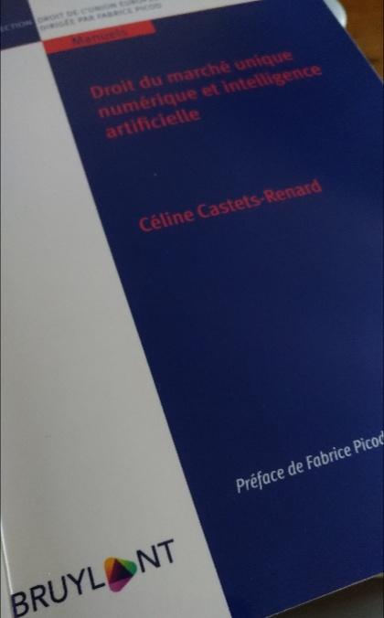 Droit du marché unique numérique et intelligence artificielle, par Céline Castets-Renard (Bruylant).