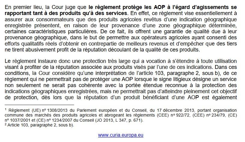 Interdiction de désignation de services par évocation de l'appellation... Champagne ! (CJUE, 9 sept 2021, C-783/19),