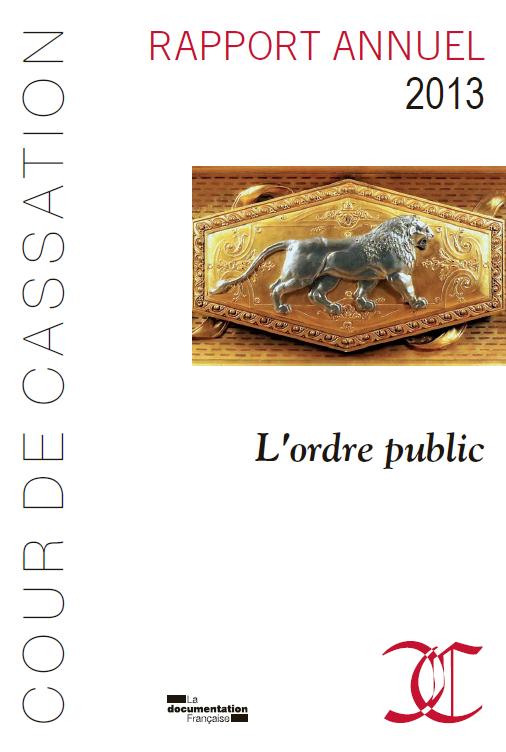 Rapport de la Cour de cassation : L'ordre public