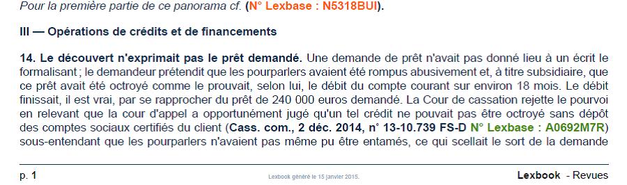 Panorama de Droit bancaire et financier (2e Partie)