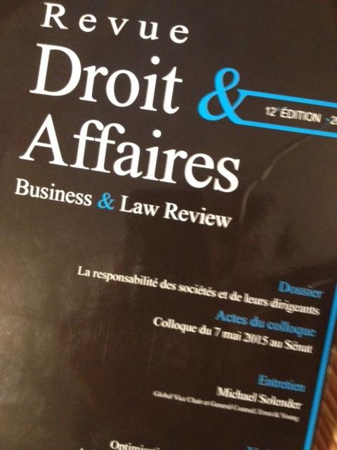 La Revue de Droit & Affaires fait son show ! RD&A, 12e éd., 2015, par l'Association Droit & Affaires.254 p.