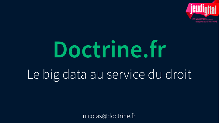"""Doctrine.fr"" est né : un nouveau site de jurisprudences né du big data"