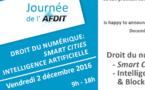Droit du numérique : Smart Cities, Intelligence Artificielle et Blockchain (Colloque 2 décembre, Aix-en-Provence)