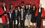 Remise de diplômes par le Doyen Stoufflet, le Master 2 Droit des Affaires et de la Banque se réunit...