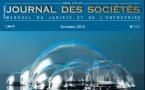 Dossier sur les apports en société, dir. D. GIBIRILA, par Le Journal des Sociétés, n° 111.