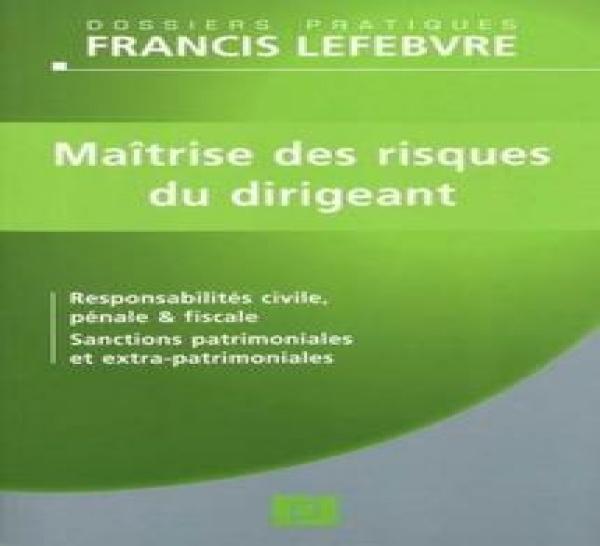 """Un grand thème : la ou plutôt """"les responsabilités"""" du dirigeant social (éd. F. Lefebvre, par D. GIBIRILA et W. FEUGERE)."""