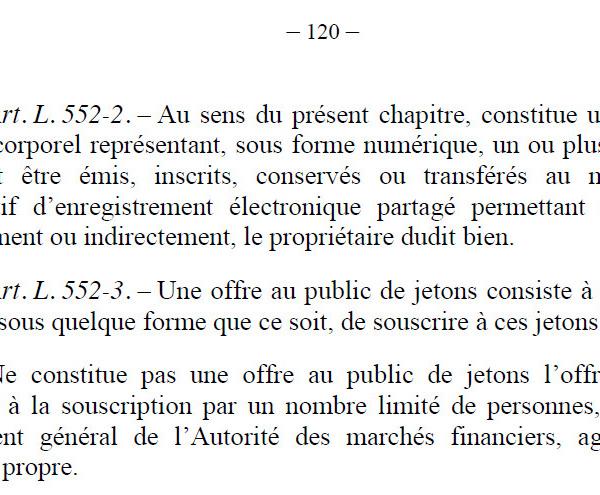 II. Loi PACTE : les jetons des ICO sont des jetons de propriétaires ! Cela dit si peu...  #afdit #directdroit