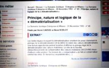 Un article avec... René ROBLOT sur la dématérialisation (Photo de la base LexisNexis)